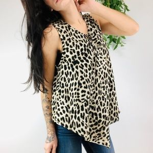 Vince Camuto Leopard Animal Print Top